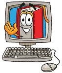 0025-0802-2015-1468_clip_art_graphic_of_a_book_cartoon_character_waving_from_inside_a_computer_screen.jpg