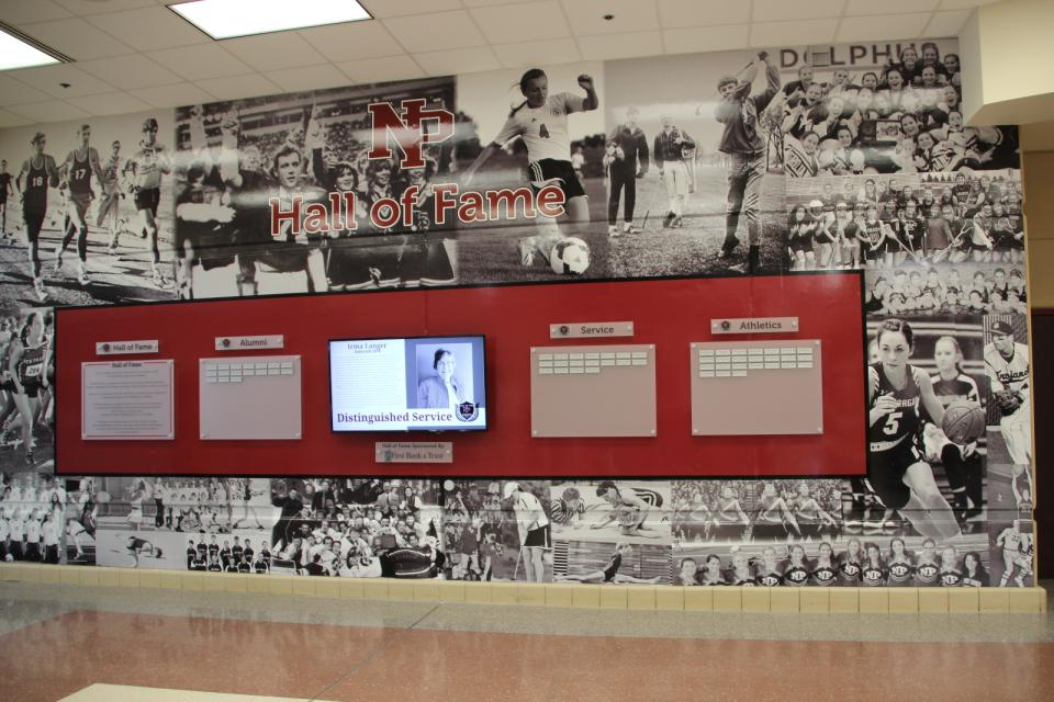 NP Hall of Fame Wall, located at NPHS.