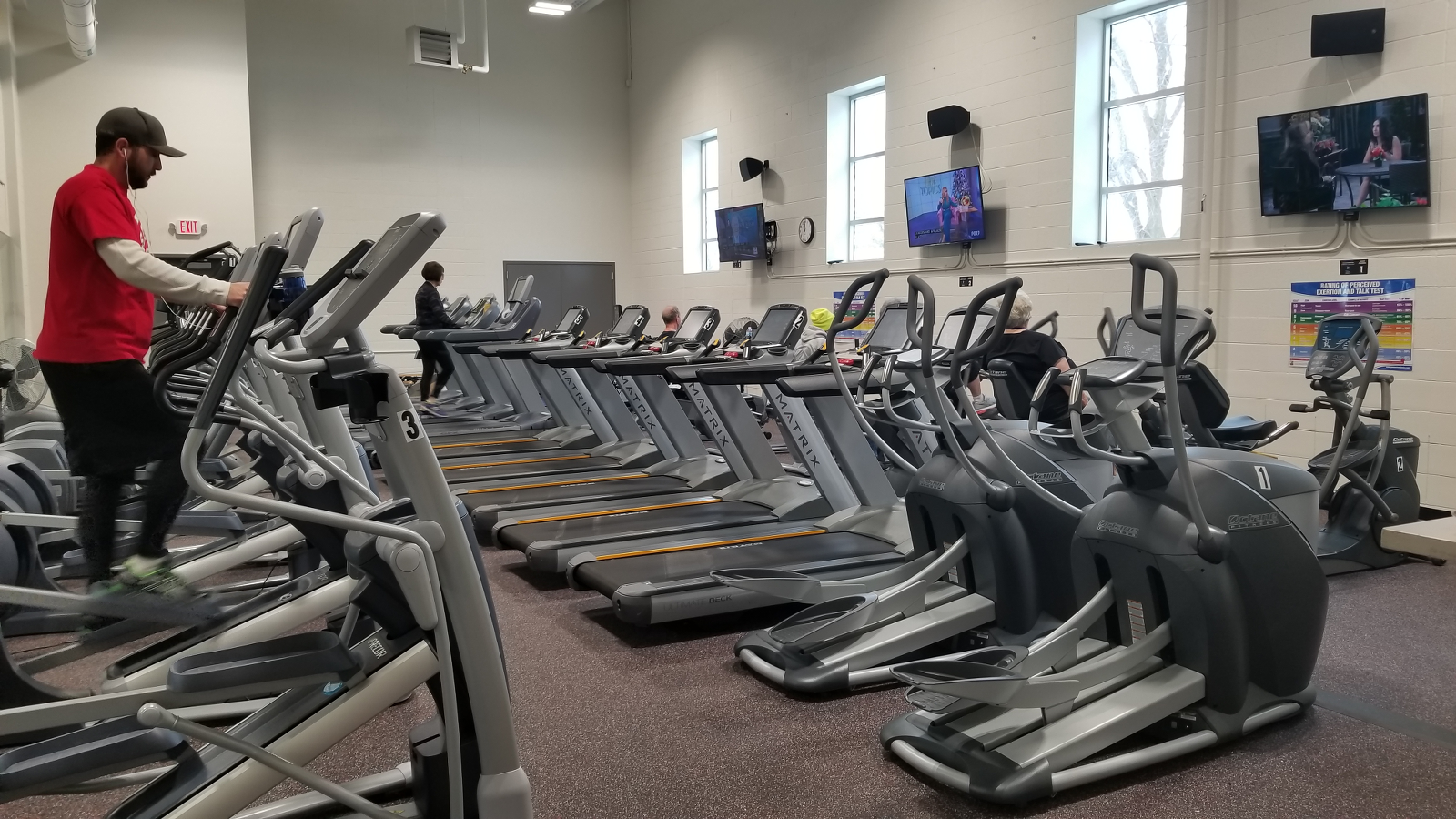 Cardio Room with over 30 machines, including treadmills, ellipticals, bikes and more.