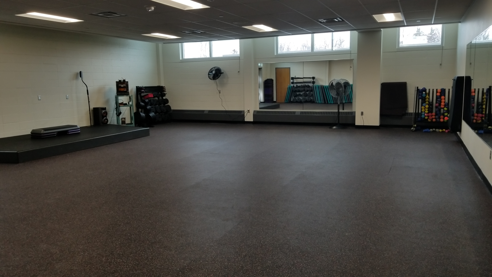 Three Group Fitness Studios with more than 30 classes offered each week!