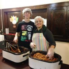 Volunteering at Homeless Shelter