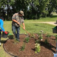 Planting pollination garden Fall 2017