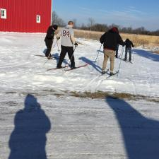 Skiing at Ney Nature Center