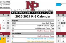 2020-2021 School Year Calendar - K-5