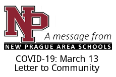 COVID-19: March 13, Letter to the Community