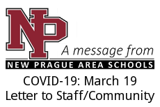 COVID-19: March 16, Letter to Staff/Community