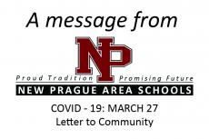 COVID-19: March 27, Letter to the Community