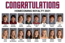 NPHS Homecoming Royalty 2021