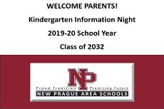 Kindergarten Information Night Presentation