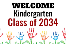 Welcome Kindergarten Class of 2034