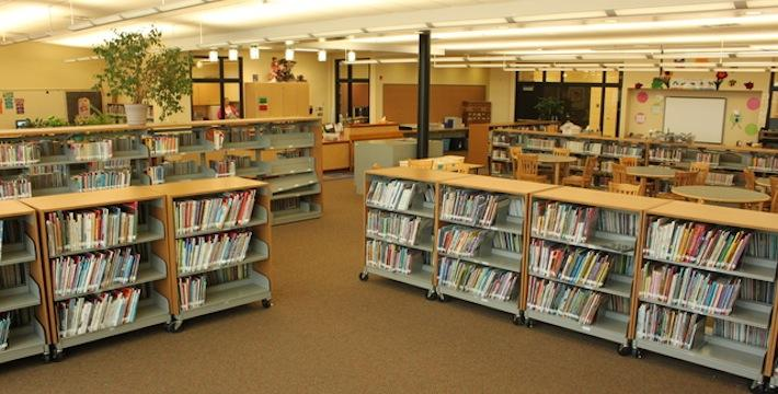 Eagle View library filled with books